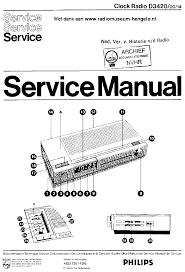 philips d3420 00 14 am fm clock radio sm service manual download