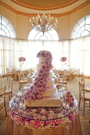 Glass Floral Cake Table Top - Cake table designs