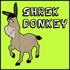 draw donkey shrek easy step step drawing