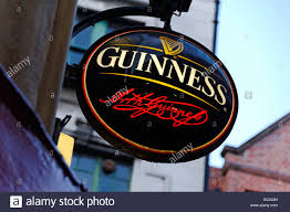 Guinness Flag Guinness Pub Sign Dublin Republic Of Ireland Stock Photo Royalty