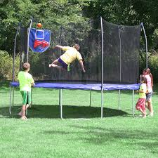 amazon com skywalker trampolines jump n u0027 dunk trampoline with
