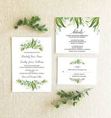 wedding invitations greenery greenery themed wedding invitations from etsy the budget savvy