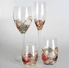 beautiful wine glasses retro pineapple red wine cup color noble glass quality chagne