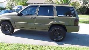 jeep rhino liner raptor lined 1996 zj limited 5 2 in od green youtube