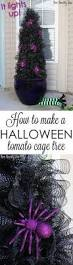 Tomato Cage Milk Jug Witch Tomato Cage Uses Pinterest by Tomato Cage Halloween Tree Tutorial Witch Legs Halloween Trees
