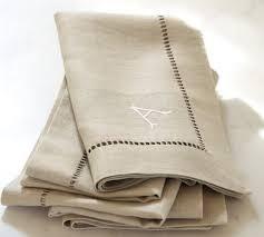 Pottery Barn Kitchen Towels Linen Hemstitch Napkin Set Of 4 Flax Pottery Barn