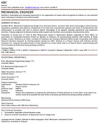 Best Mechanical Engineer Resume by Breathtaking Resume Of Mechanical Engineering Student 87 With
