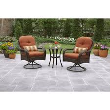 Swivel Wicker Patio Chairs by Better Homes And Gardens Azalea Ridge 3 Piece Outdoor Bistro Set