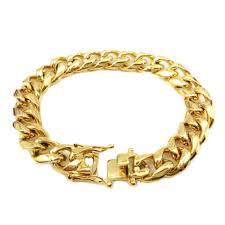 box bracelet clasp images 12mm gold stainless open box clasp cuban link bracelet mb jpg