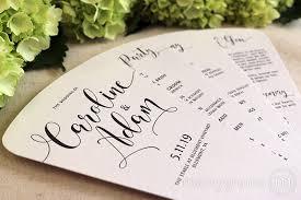 fan style wedding programs 4 blade petal program fan heart style wedding ceremony programs