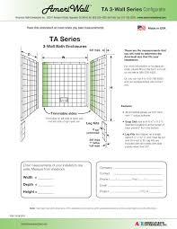 bathtub acrylic enclosures american bath enterprises american bath ta 3 wall series configurator