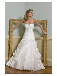 ivory wedding dress lotus satin wedding dress fitted to hip ivory satin and lace