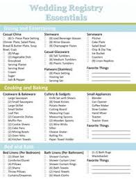 wedding registration list crafting the bridal registry wedding registry checklist