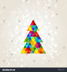 christmas tree rainbow colors stock vector 115294060 shutterstock