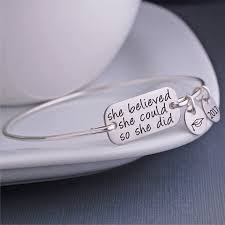 graduation jewelry gift she believed she could so she did bracelet gift for
