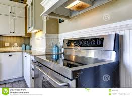 up modern kitchen modern kitchen stove with flat top stock photo image 42687591