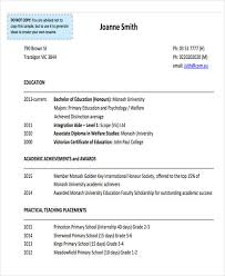 Monash Resume Sample by 20 Education Resume In Pdf Free U0026 Premium Templates