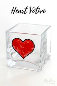 A Candle Holder Diy Glass Paint Heart Votive Candle Holder Rhythms Of Play