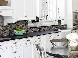 kitchen white backsplash tile backsplash with black cuntertop ideas white cabinet black