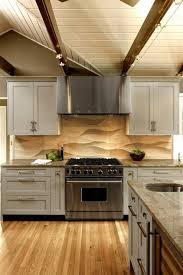 limestone backsplash kitchen the backsplash the sculpted limestone tile backsplash s wave