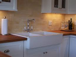 Kitchen Sinks With Backsplash Kitchen White Backsplash Stainless Steel Faucet White