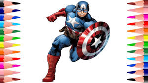 painting captain america coloring pages kids coloring