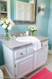 coastal blue powder room makeover before u0026 after coral