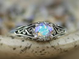 what is a commitment ring size 6 delicate rainbow topaz engagement ring in sterling