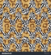 tiger print waves seamless vector pattern stock vector 592162391