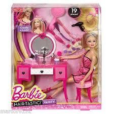 Vanity Playset Barbie Hair Tastic Vanity Playset W Barbie Doll 19 Play Pieces