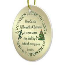 runners letter to santa ornaments keepsake ornaments zazzle
