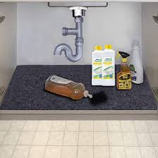 sink kitchen cabinet mat the sink mat kitchen tray drip cabinet liner fabric layer waterproof layer reusable washable 36inches x 24inches
