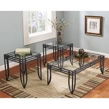 3 piece end table set signature design by ashley exeter 3 piece coffee table set walmart com