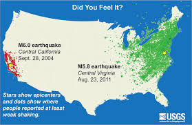 New Jersey Area Code Map 5 Years Ago Big Earthquake Shook N J And Most Of East Coast Nj Com