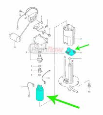 quantum t35 intank fuel pump with strainers for kawasaki teryx 750