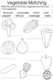 vegetable coloring pages matching games worksheets and english