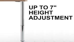 build adjustable table legs height adjustable studio table leg set 7 inch leveler youtube