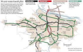 portland light rail map crc light rail