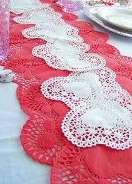 valentine s day table runner valentine s day simple heart doily table runner valentine s day