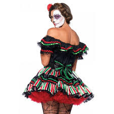 day of the dead doll womens halloween costume muerto
