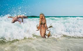 free photo mermaid wave sea mermaids free image pixabay