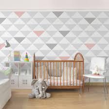 kinderzimmer grau weiß mustertapete für kinderzimmer no yk65 dreiecke grau weiß rosa