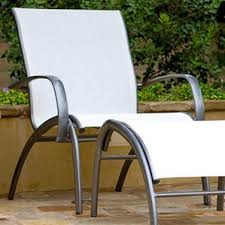 Sling Patio Chairs Wood Sling Outdoor Chair Wayfair