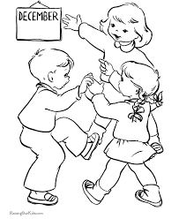christmas coloring pages kids u0027s december
