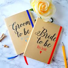 to be wedding planner personalised and groom wedding planner notebooks by the