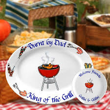 personalized grilling platter burnt by personalized bbq oval serving dish fathersday this
