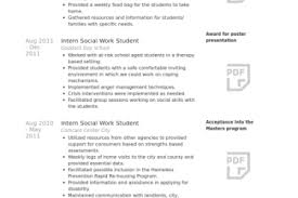 Example Social Work Resume by Social Resume Bachelor Of Arts Reentrycorps