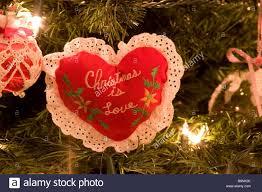 Homemade Christmas Tree Ornaments by Handmade Christmas Tree Heart Ornament With