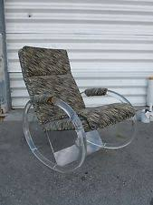 Lucite Rocking Chair Lucite In Chairs Ebay