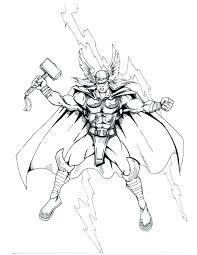 Thor Coloriage A La En 5 Coloriage Thor A Imprimer Gratuit  immeiinfo